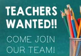 Wanted female Teachers for 1st to 5th Class E.M