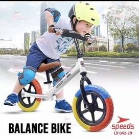 Sepeda Keseimbangan Dorong Anak Bayi Roda 2 Ban Hitam Mini Bike Kids