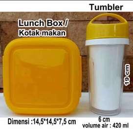 1 set souvenir lunch box dan tumbler