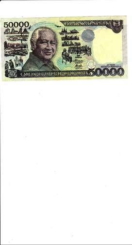 Dijual uang antik RI-pecahan uang 50.000-SOEHARTO