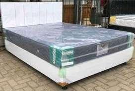 1 set springbed gudho + divan sandaran ( uk 160 x 200 cm )