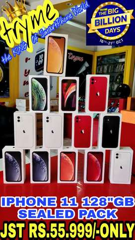 TRYME 128Gb IPHONE 11 SEALED Pack 1Year Indian Warranty