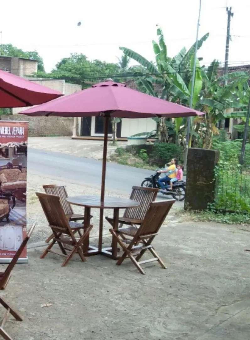 Meja taman,meja cafe,meja payung jati,kursi lipat jati,meja outdoor