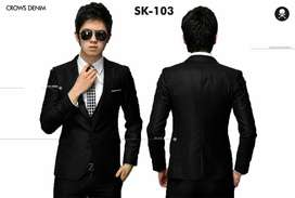 Jas Formal Kantoran Aliando Style Hitam Exclusive SK103