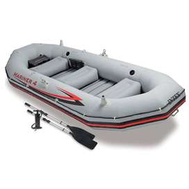 Intex Mariner 3, 3-Person Inflatable Boat Set with Aluminum Oars and H