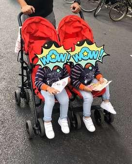 Stroller baby twin merk cam