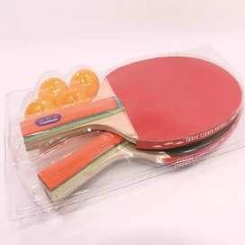 Dua Bet Pingpong Raket Tenis Meja Ping Pong Original Bonus 4 Bola