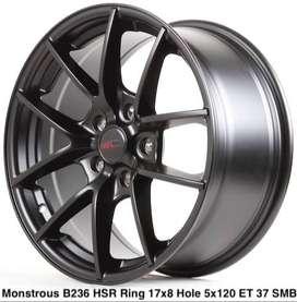 MONSTROUS B236 HSR R17X8 H5X120 ET37 SMB