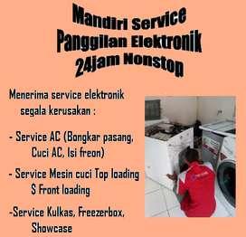 Panggilan service Mesin cuci top loading ; Ac ; Showcase kurang dingin
