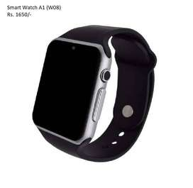 Smart Watch A1 -Sim Supported Black