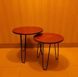 Imported Nest Tables Pair For Sale