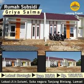 Rumah subsidi dengan tanah luas