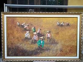 Lukisan sawah petani