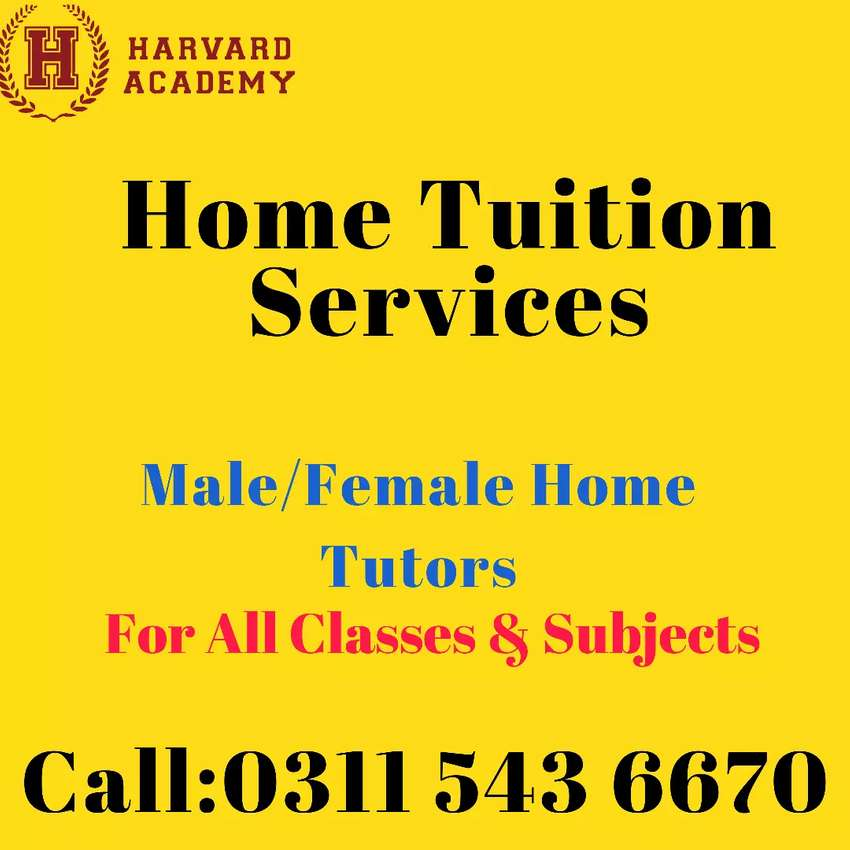Home Tuition in DHA/BAHRIA,Lalazar/Chaklala,Adiala,All Askari,PWD/6 Rd 0