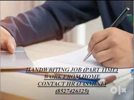 Home based part time job for the handwriting work