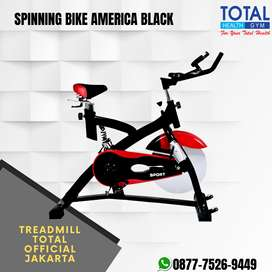 Spinning Bike Amerika Black I Alat olahraga sepeda racer JLS BLACK