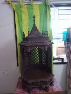Wooden home mandir