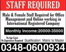 Jobs in Pakistan (Part time/ Full time/ Home Based Online Job)