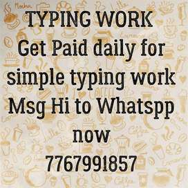 Simple typing work daily payment