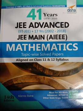 Jee main & Jee advance 41 years question answer Book