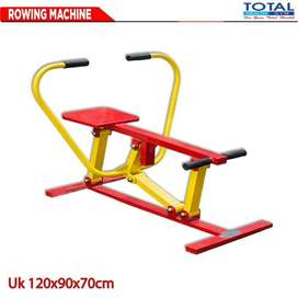 Alat Fitness Rowing Machine Total FItness Outdoor - Fitnes Taman