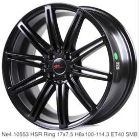 jual velg racing NE4 hsr ring 17x75 h8x100-114,3 black