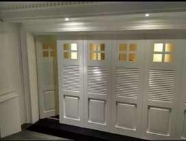 Pintu lipat bahan galvanis anti karat bergaransi