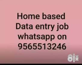 We provide genwine home based data entry work