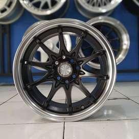 Velg Mobil Avanza, Yaris dll Type HIROSHIMA R15 HSR Wheel Black Face