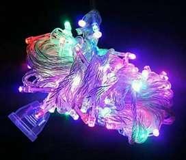 Lampu tumbler. 100 led 10m. Hiasan. Dekorasi ruang. Pohon. Natal. Kafe