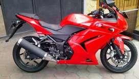 Jual cepat ninja 250 karbu warna merah