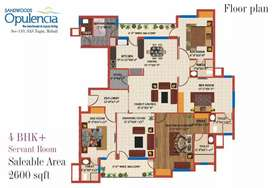 A 3bhk flat in new chandigarh