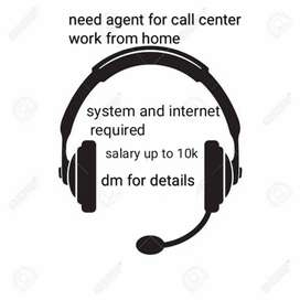 Need agents for domestic center should have system and WiFi