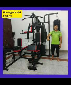 Home gym 4 sisi dengan legs press alat fitnes gym
