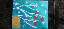 Christmas themed canvas