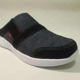 Sepatu Sandal Slipon Sport Casual Denim