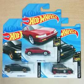 hot wheels hotwheels paket honda crx dan city turbo