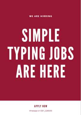 We are proud to give online simple typing jobs to unemployed people