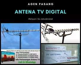 Instalasi pemasangan sinyal antena tv outdoor