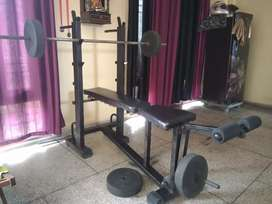 Heavy, Multifunction Gym bench , with leg curl ,extension.