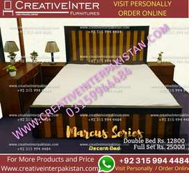 Double bed set incrdble design sofa dressing table wardrobe iron stand