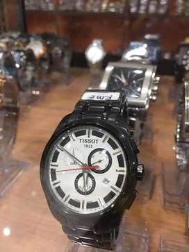 Jam tangan tissot black chrono langka terbatas
