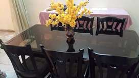6 seater chair dining table set
