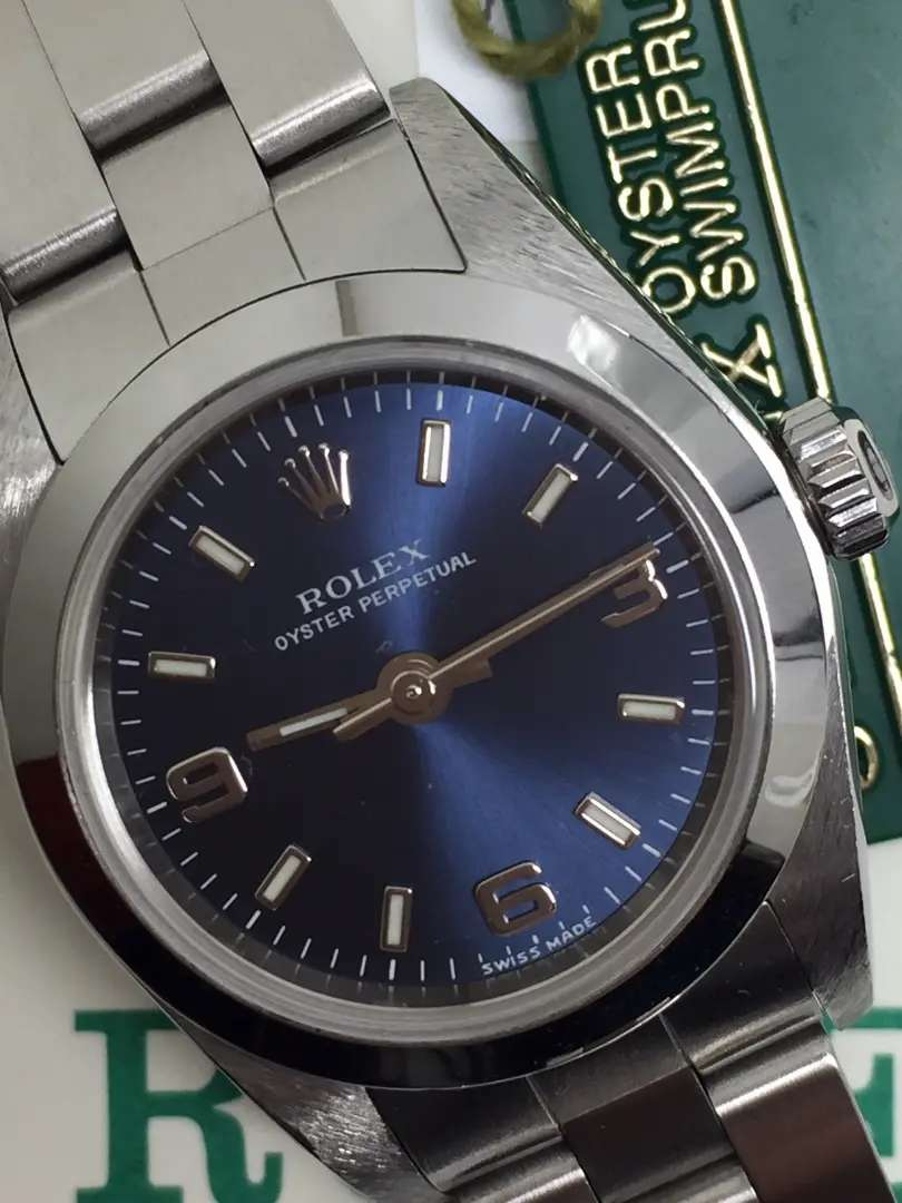 Rolex ladies SS blue navy dial Like New 0