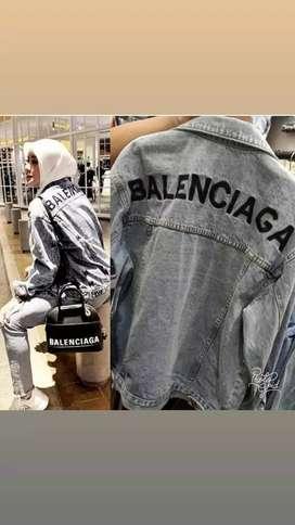 jaket import bahan jeans tebel