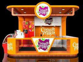 food kiosk modification service Food stall for