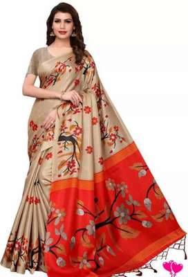 Trendy Attractive Blend Silk Sarees
