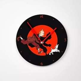 Jam Dinding Model Tintin