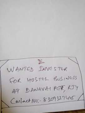 Wanted invester