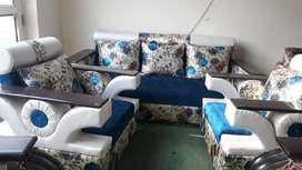 brand new designer blue five searer corner large sofa